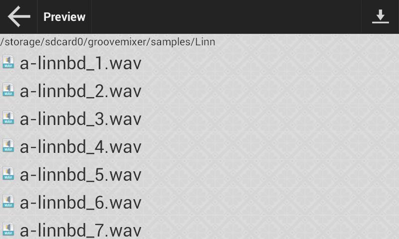 import wav file